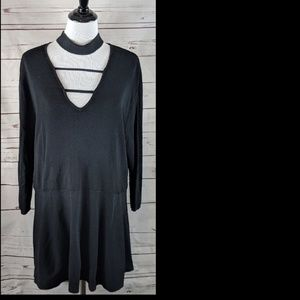 Lane  Bryant  choker black top/tunic 22/24